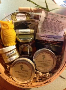 winter view farm gift basket springfield-vt-farmers-market